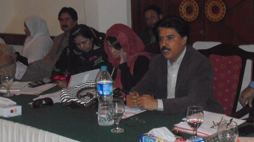Shama Ishaq Baloch in Center
