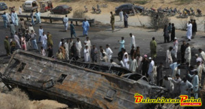 Who's responsible for the growing number of road accidents in Balochistan?