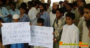 Turbat: Sit-in Protest Against Closure of Schools in Zamuran