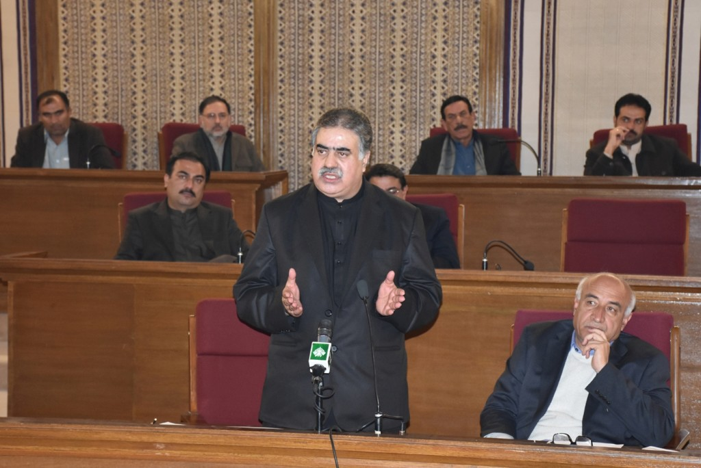 Nawab Zehri addressing Balochistan Assembly