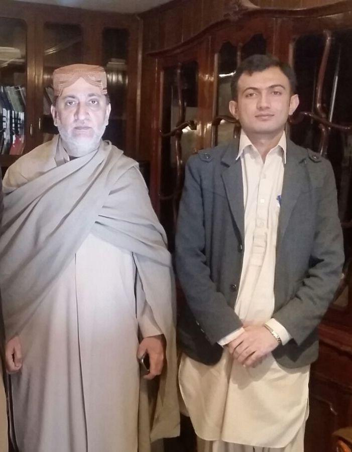 Adnan Aamir with Sardar Akhtar Mengal