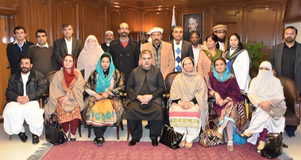 Group of delegation with CM Balochistan