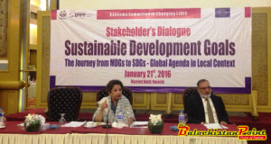 Help of Civil Society Sought in Achieving SDGs in Balochistan, Sindh