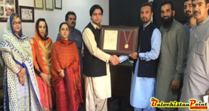 Red Crescent Balochistan graces Ibrahim with honorary shield