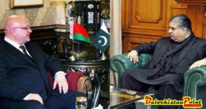 Ambassador of Belarus calls on Sanaullah Khan Zehri