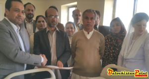 Secretary Health visits Fatima Jinnah General and Chest Diseases Hospital Quetta