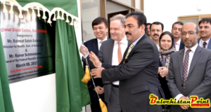 Health Minister Inaugurates German funded Regional Blood Centre at Spony Road Quetta