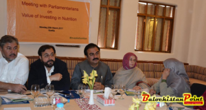 Lawmakers pledged to increase budgetary allocations for Nutrition in Balochistan