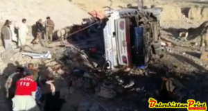 9 killed, 25 injured as passenger bus overturns near Lakpass Tunnel